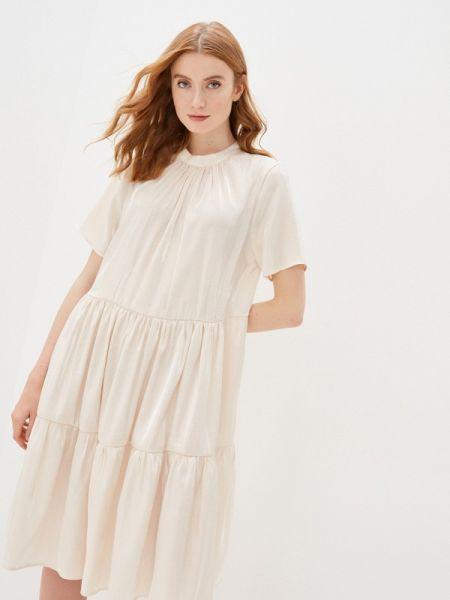 Вечернее платье бежевое весеннее Imperial