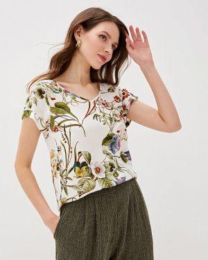 Блузка с коротким рукавом белая La Fleuriss