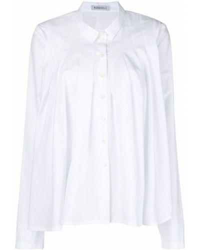 Рубашка с длинным рукавом белая асимметричная Rundholz