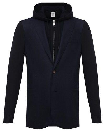 Шерстяной синий пиджак Eleventy