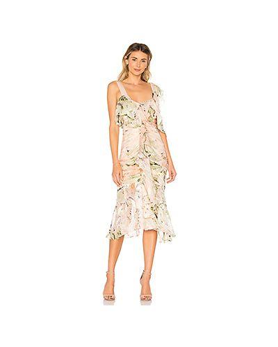 Платье с оборками с вырезом Alice Mccall