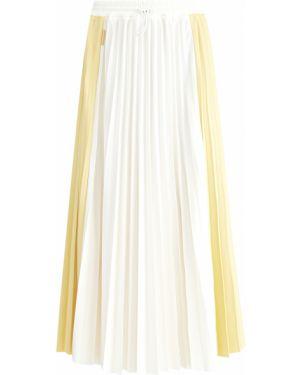 Плиссированная юбка миди с поясом Moncler