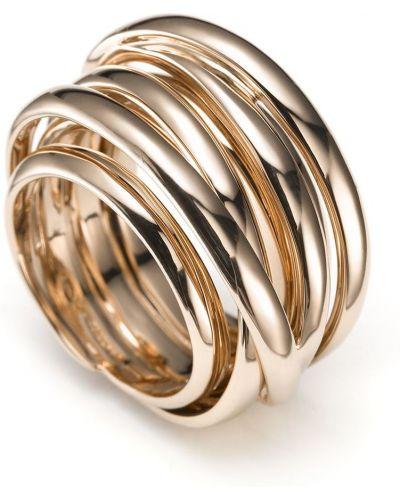 Różowy złoty pierścionek Mattioli