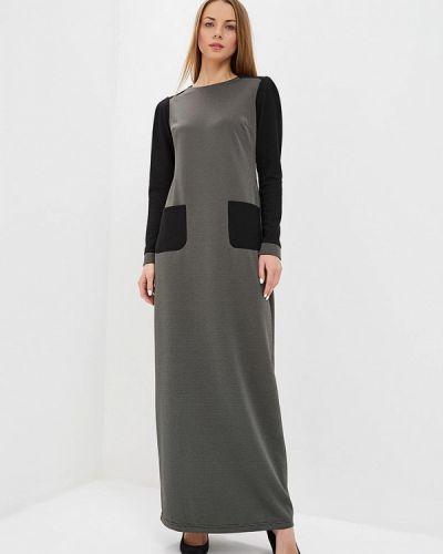 Платье осеннее зеленый Sahera Rahmani