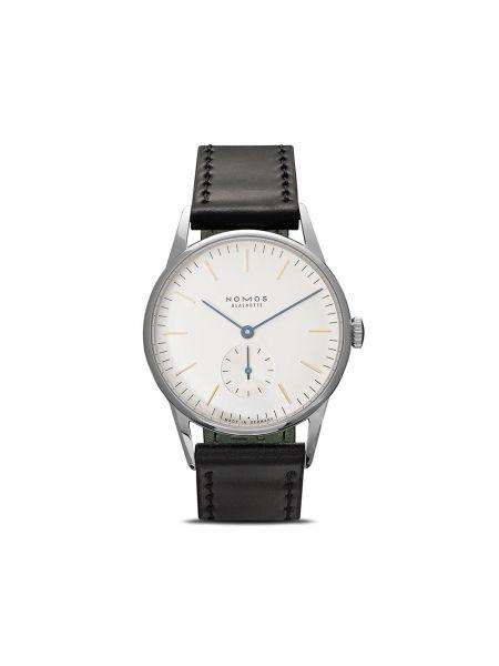 Кожаные часы - белые Nomos Glashütte