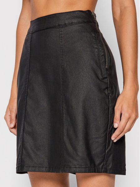 Czarna spódnica jeansowa Noisy May