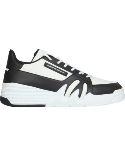 Białe sneakersy skorzane Giuseppe Zanotti