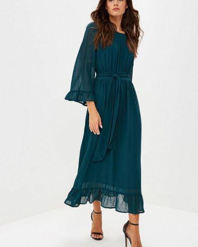 Вечернее платье осеннее зеленый Lost Ink Plus