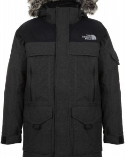 Длинная куртка утепленная с капюшоном The North Face
