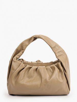 Бежевая кожаная сумка Lamania