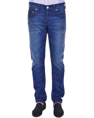 Хлопковые джинсы - синие True Religion