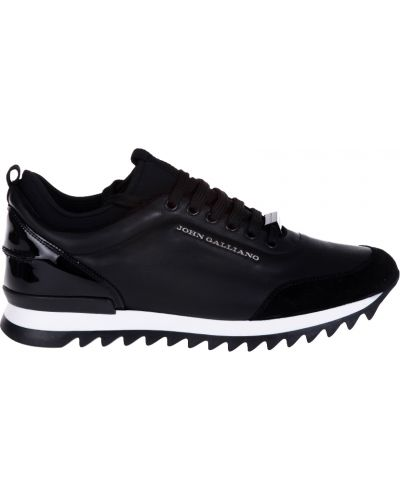 Кроссовки замшевые черные John Galliano