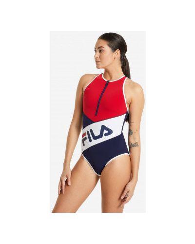 Облегающий моделирующий красный купальник Fila