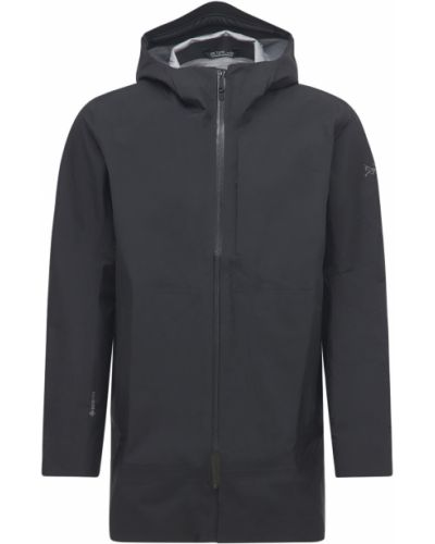 Czarny płaszcz z kapturem Arcteryx