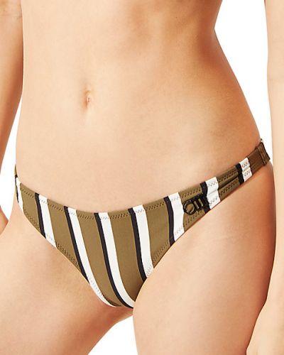 Оливковые бикини в полоску с нашивками Solid & Striped