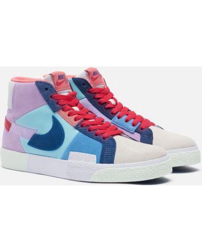 Фиолетовые текстильные кроссовки Nike Sb