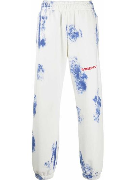 Bawełna bawełna niebieski spodnie sportowe z łatami Misbhv