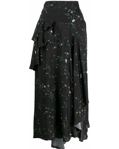 Черная асимметричная юбка Preen Line