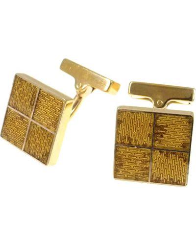 Żółte złote spinki do mankietów Louis Vuitton Vintage