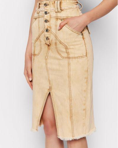 Żółta spódnica jeansowa Ixiah