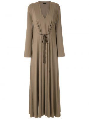 С рукавами плиссированное платье с V-образным вырезом на молнии Osklen