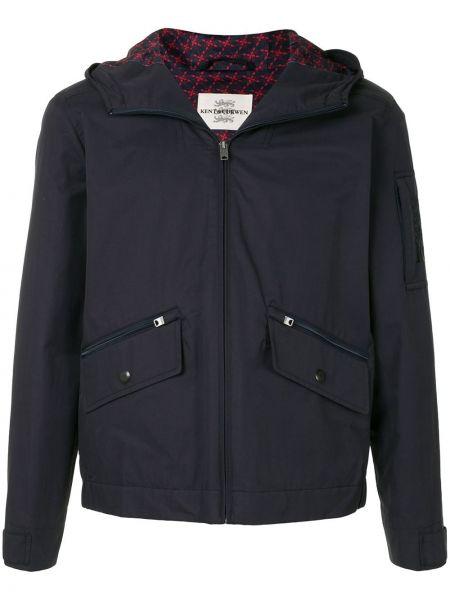 Czarna kurtka z kapturem bawełniana Kent & Curwen