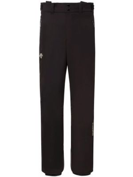 Черные теплые спортивные брюки на молнии из плотной ткани Descente