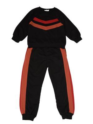 Czarny garnitur bawełniany Trendyol