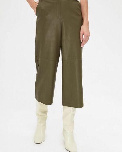 Зеленые кожаные брюки Lime