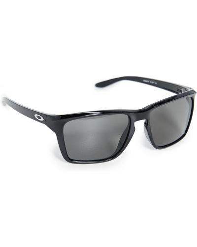Черные солнцезащитные очки прямоугольные Oakley