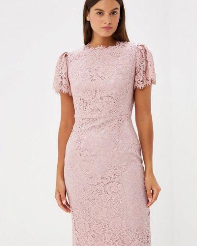 Асимметричное розовое коктейльное платье Lusio
