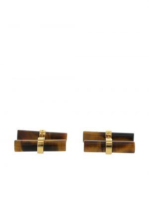 Brązowe złote spinki do mankietów Van Cleef & Arpels