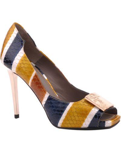 Кожаные туфли - синие Versace