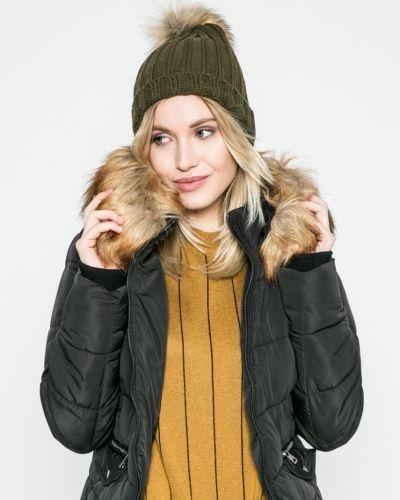 Стеганая куртка утепленная с капюшоном с мехом Only