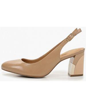 Туфли на каблуке кожаные с открытой пяткой Indiana