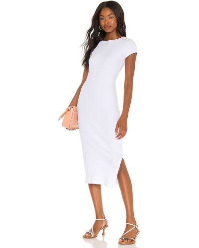 Белое шелковое вечернее платье Enza Costa