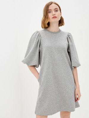 Серое платье Mbym