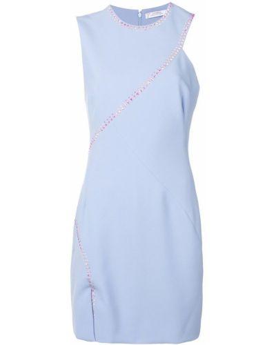 Платье с разрезом - синее Versace Collection