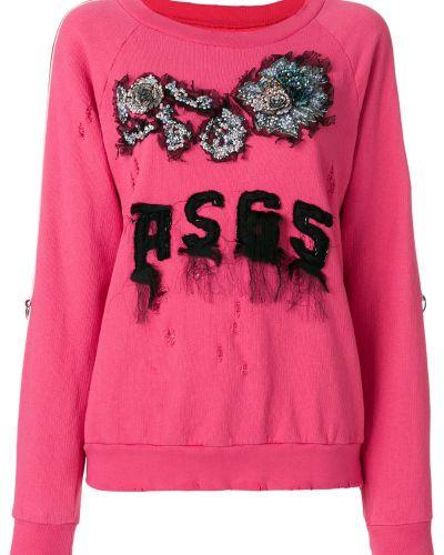 Розовый свитер с вышивкой As65