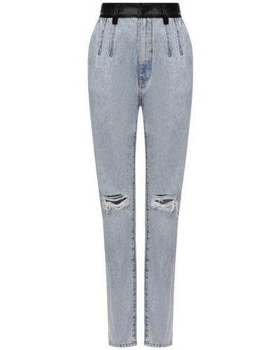 Кожаные джинсы - голубые Denim X Alexander Wang