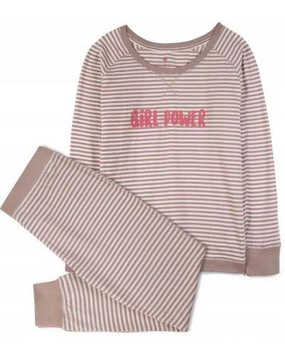 Piżama bawełniana z długimi rękawami w paski Atlantic