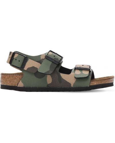 Кожаные сандалии милитари с пряжкой Birkenstock