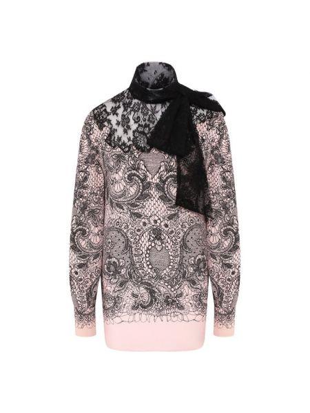 Блузка розовая гипюровая Valentino