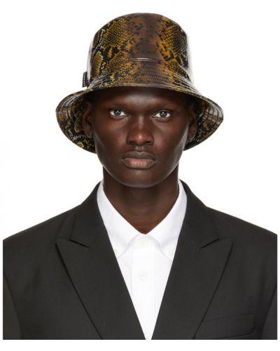 Czarny kapelusz bawełniany Versace