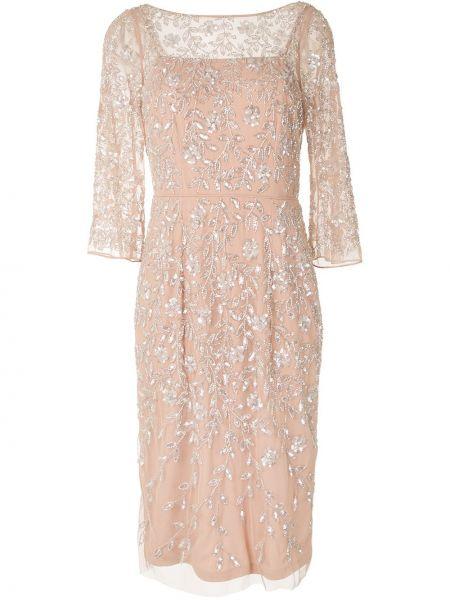 Платье миди с открытой спиной с V-образным вырезом Aidan Mattox