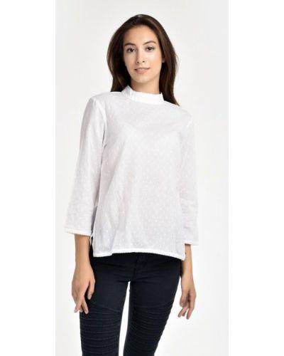 Белая блузка с длинными рукавами Numph