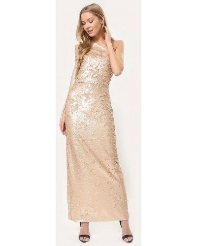 Вечернее платье осеннее бежевое Tutto Bene