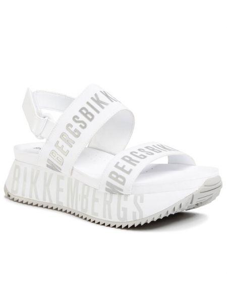 Białe sandały Bikkembergs