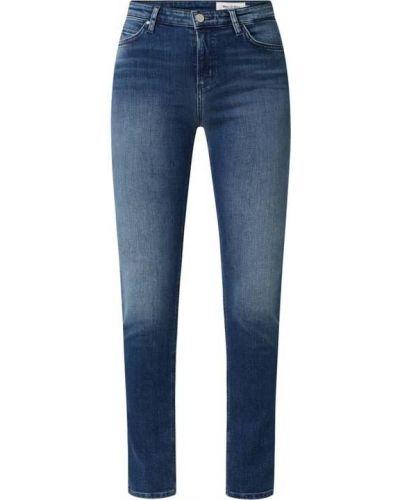 Mom jeans bawełniane - niebieskie Marc O'polo Denim