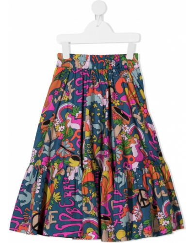 Хлопковая черная юбка с поясом Raspberry Plum